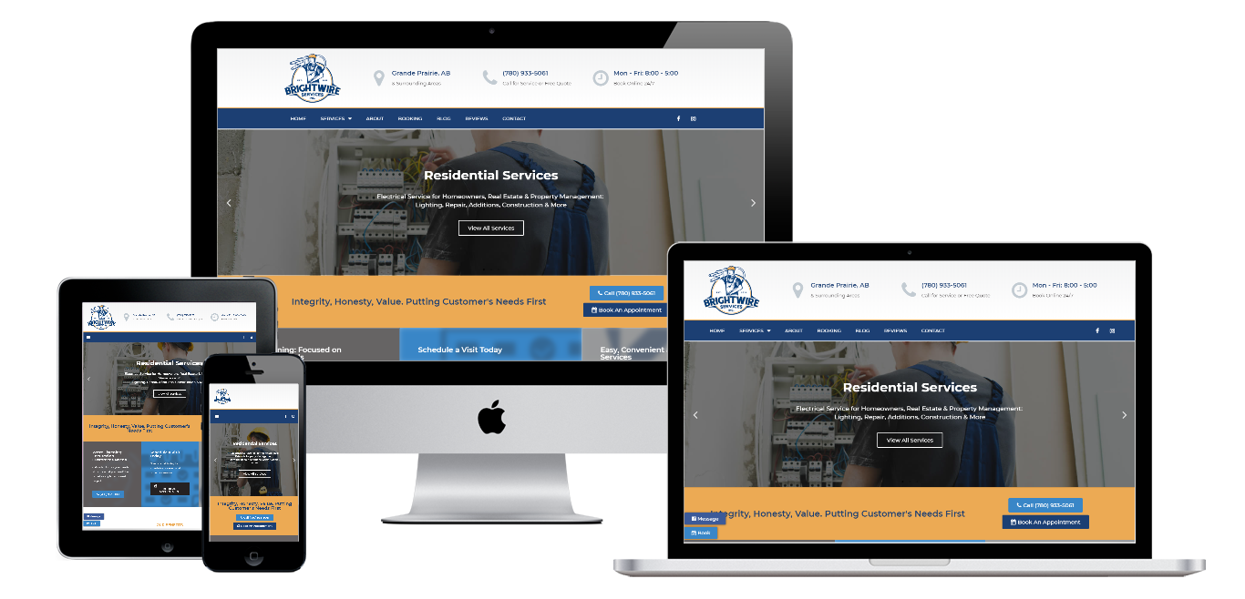 brightwire electrical service website live preview