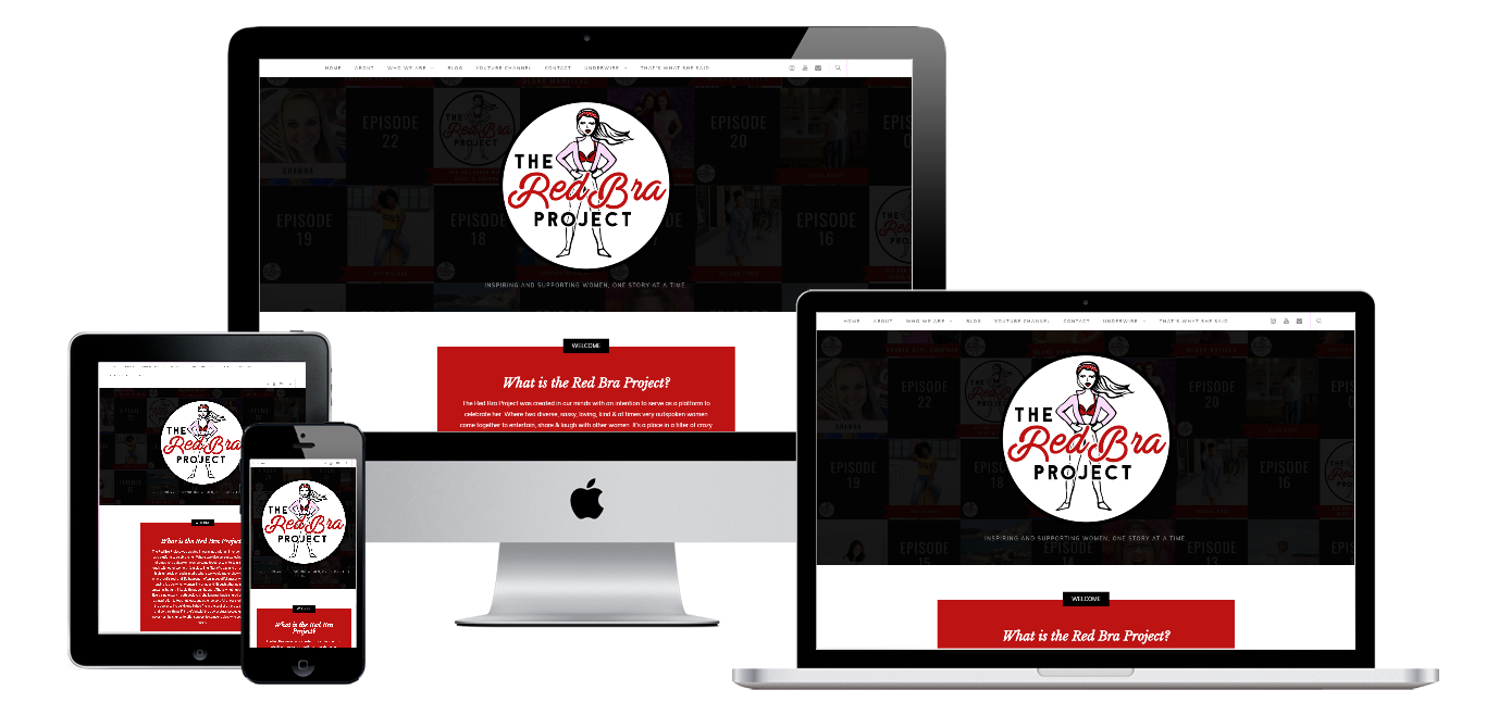 the red bra project website live preview