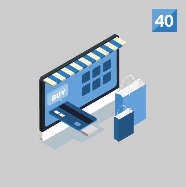 woocommerce website development 40 products service illustration