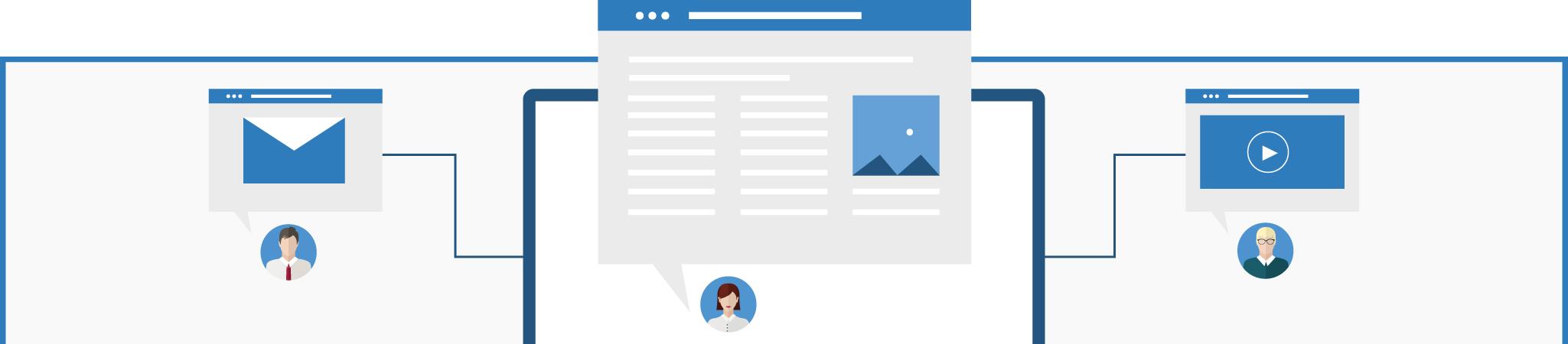 content marketing infographic banner desktop