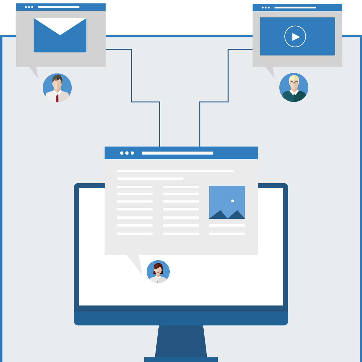 content marketing infographic banner mobile