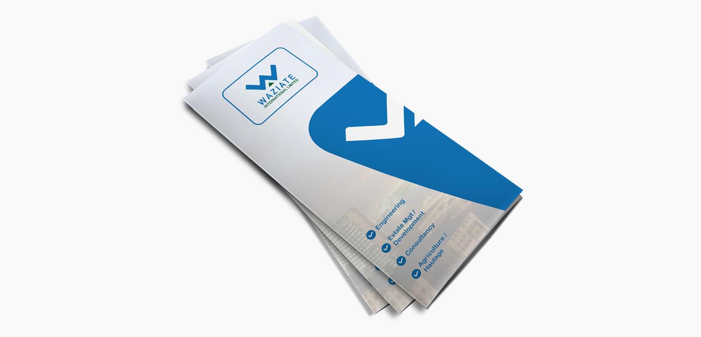 Waziate Print Ready 8.5 X 11 Tri-Fold Brochure Four