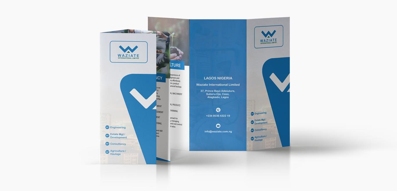 Waziate Print Ready 8.5 X 11 Tri-Fold Brochure Three