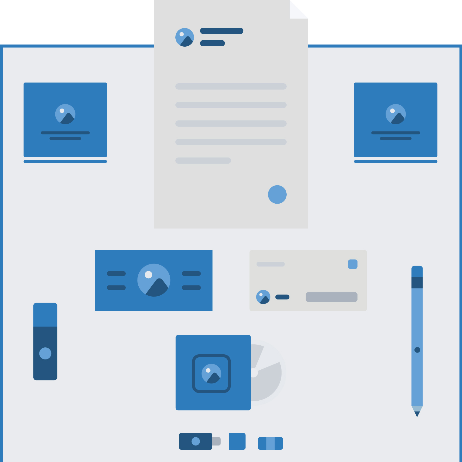 stationery design infographic banner mobile