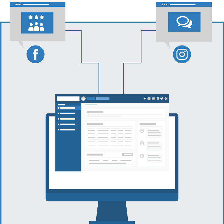 Social media management infographic mobile