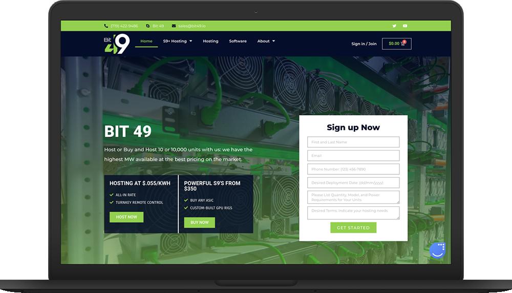 Bit49 Website Macbook Live Preview