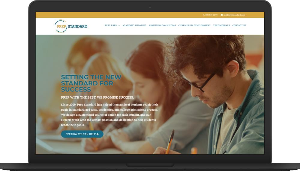 prep standard website macbook preview