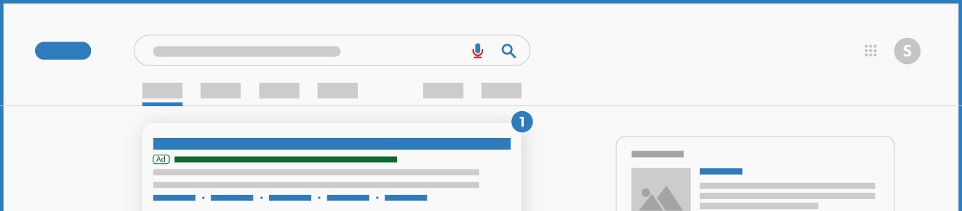 Search engine marketing illustration desktop