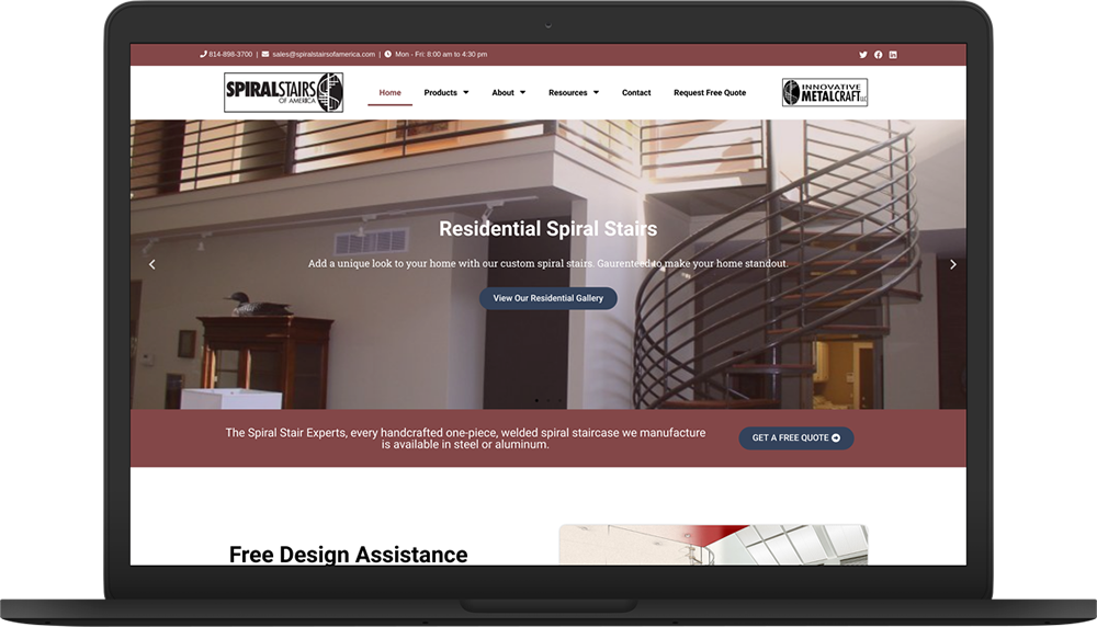 spiral stairs of america new website macbook preview