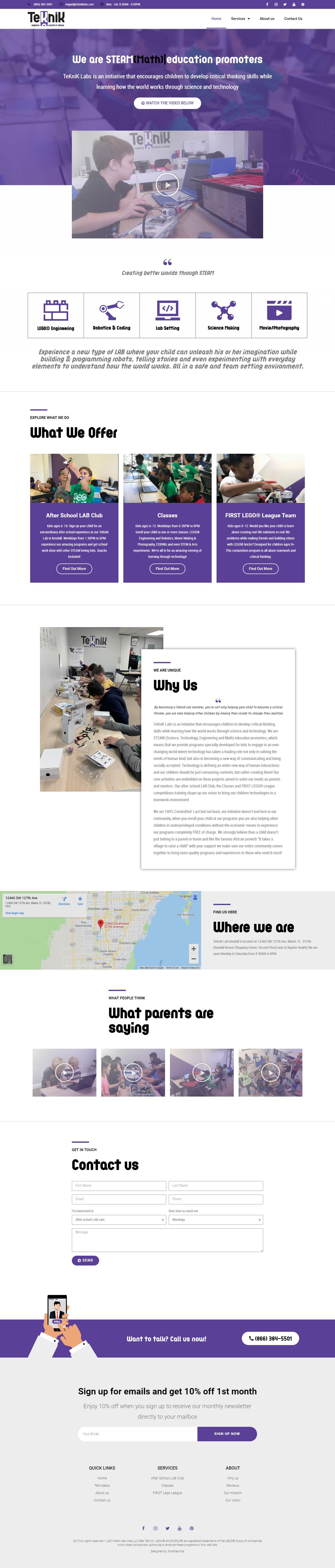 Teknik Labs Home Page Design