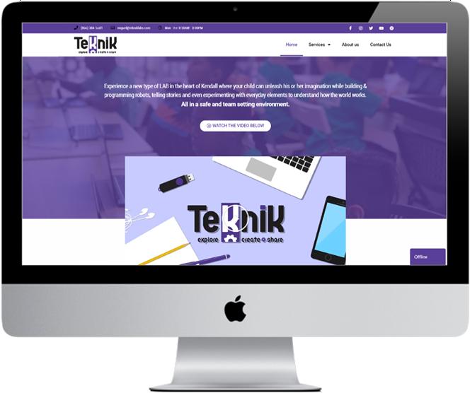 Teknik Labs Website Imac Live Preview