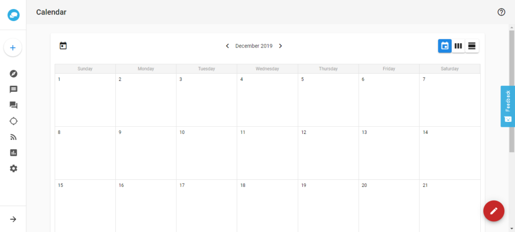 social manager my post calendar dashboard