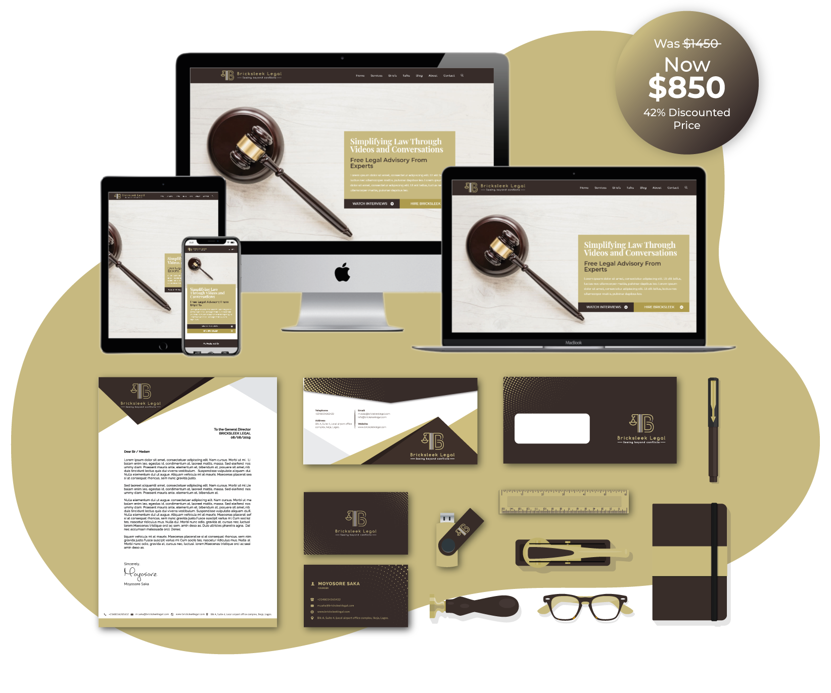 bsl website and stationery design