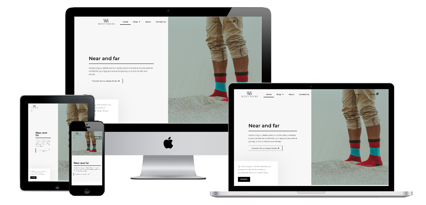wizzysocks ecommerce website live preview