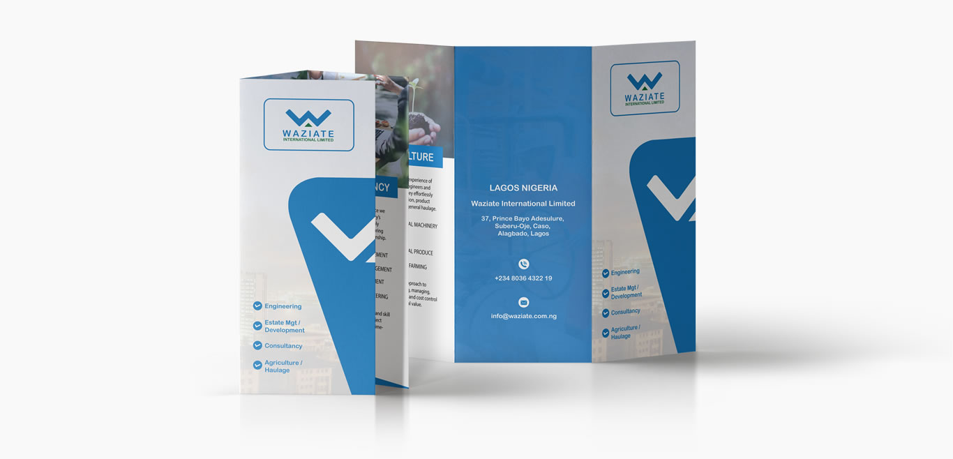 Waziate Print Ready 8.5 X 11 Tri-Fold Brochure Three