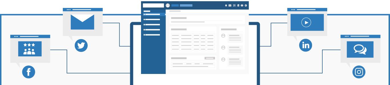 Social media management infographic desktop