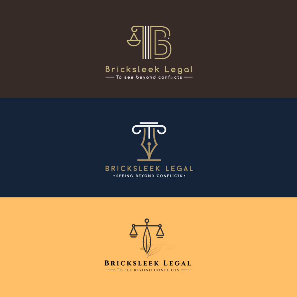 bricksleek logo 3 versions