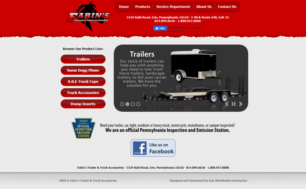 fabins trailers and accessories old website