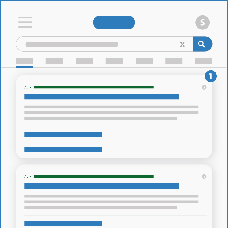 Search engine marketing illustration mobile