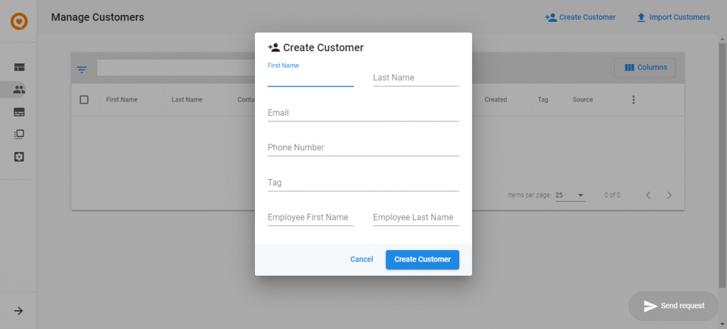 feedback manager create customers